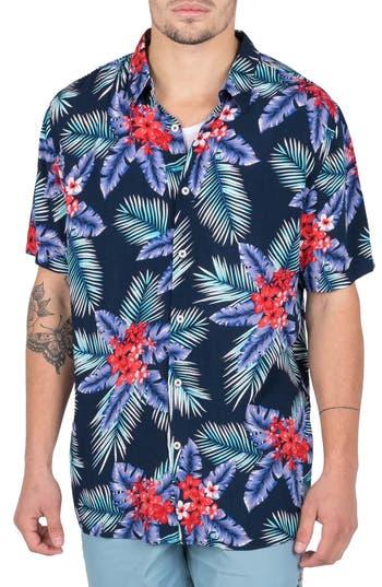 Barney Cools Floral Camp Shirt
