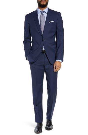 BOSS Huge/Genius Trim Fit Solid Wool Suit