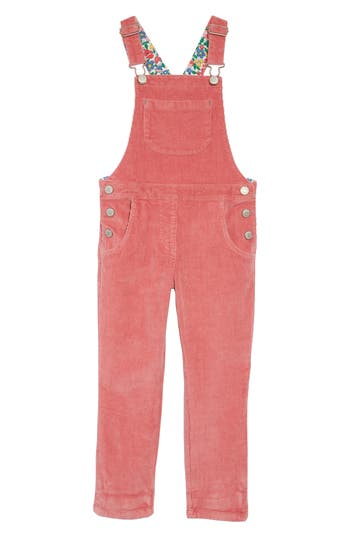 7ae563d268d Toddler Girls Mini Boden Embroidered Dungaree Overalls Size 34t Pink