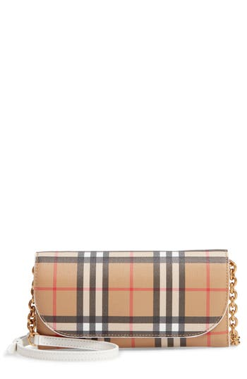 Burberry Henley Vintage Check Wallet on a Chain