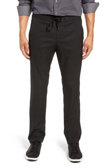 Men's Bugatchi Flat Front Pants, Size 30 x 32 - Black