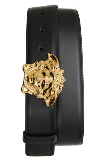 Versace Medusa Head Leather Belt