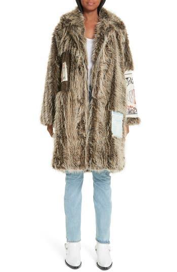 Martine Rose Shaved Faux Fur Flier Coat