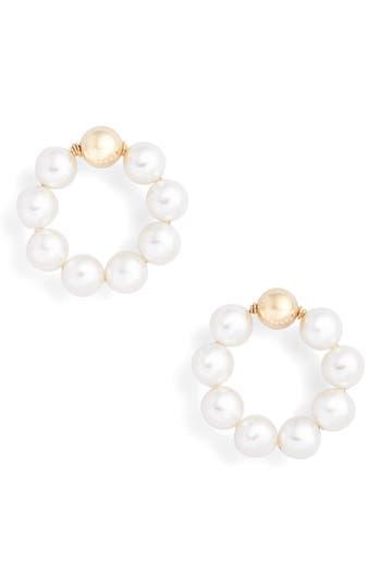 Beck Jewels OG Beaded Hoop Earrings