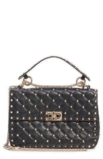 VALENTINO GARAVANI Medium Rockstud Matelassé Quilted Leather Shoulder Bag
