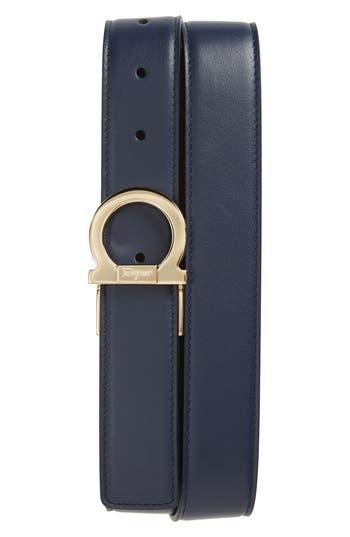 Salvatore Ferragamo Reversible Gancio Buckle Leather Belt