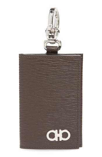 Salvatore Ferragamo Revival Leather Key Ring Card Case
