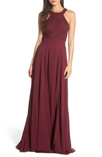 Lulus Love Poem Lace Halter Gown