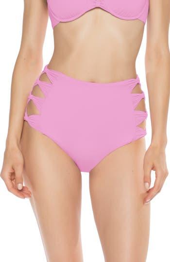 Isabella Rose Bow Tie High Waist Bikini Bottoms