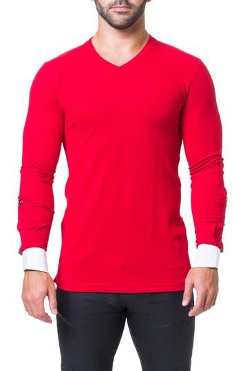 Maceoo Edison V-Neck T-Shirt