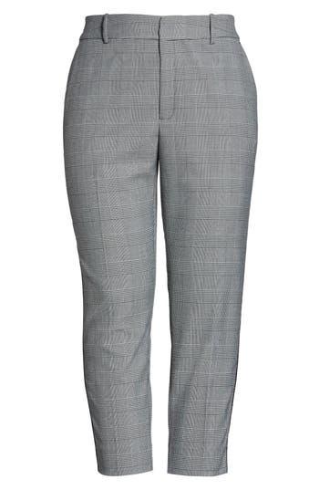 RACHEL Rachel Roy Side Stripe Plaid Pants