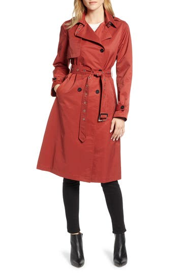 Halogen® Double Breasted Trench Coat