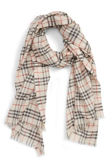 Burberry Vintage Check Metallic Scarf