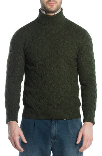 Eleventy Cableknit Turtleneck Cashmere Sweater