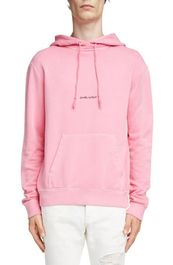 Saint Laurent Logo Hooded Sweatshirt