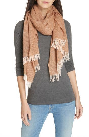 Eileen Fisher Herringbone Wool Scarf