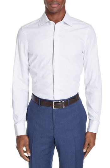Canali Lux Regular Fit Tuxedo Shirt