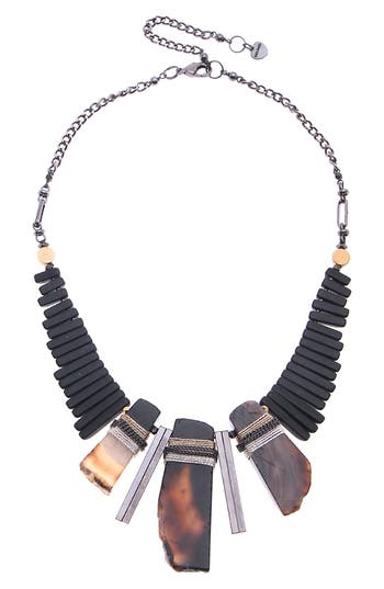 Nakamol Design Agate & Onyx Statement Necklace