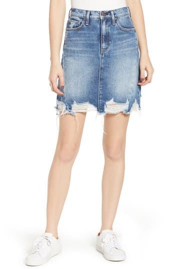 Hudson Jeans Lulu Frayed Miniskirt