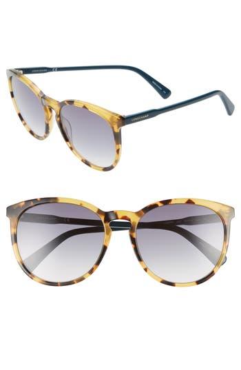 Longchamp 56mm Round Sunglasses