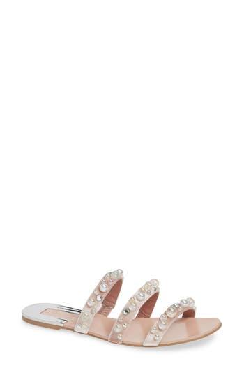 Leith Stunner Embellished Strappy Slide Sandal