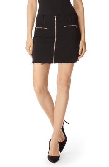 J Brand Moto Miniskirt