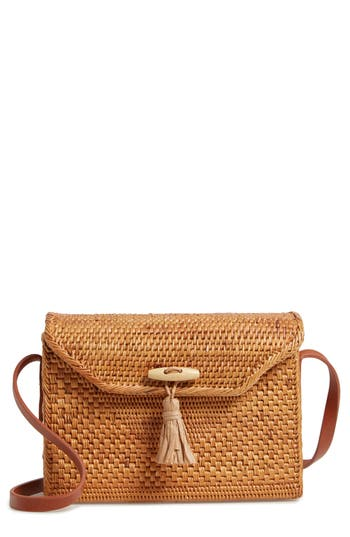 Nordstrom Celeste Straw Crossbody Bag