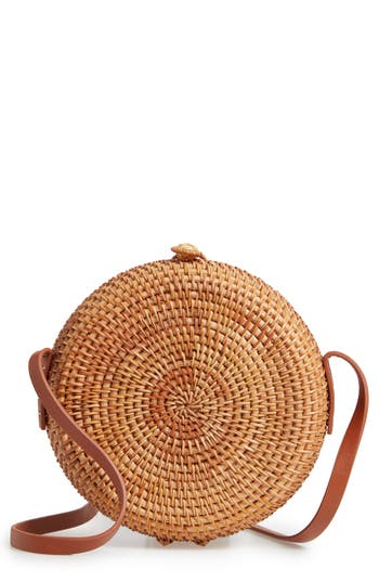 Nordstrom Straw Canteen Crossbody Bag