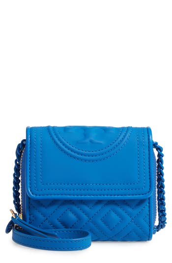 Tory Burch Mini Fleming Matte Wallet on a Chain