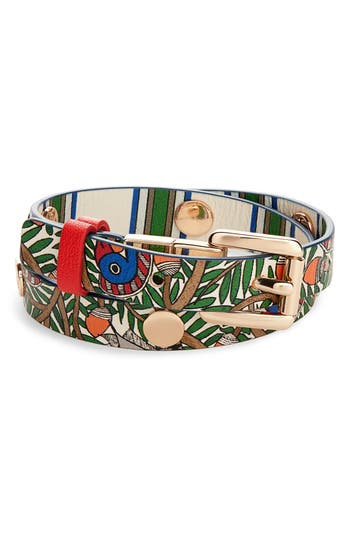 Tory Burch Reversible Double Wrap Leather Bracelet