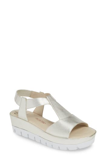 Amalfi by Rangoni Bastia Wedge T-Strap Sandal (Women)