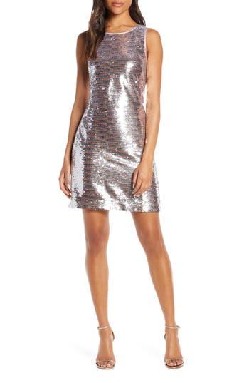 Vince Camuto Sequin Sleeveless Sheath Dress