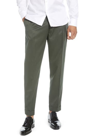 Topman Slim Fit Pleated Tapered Pants