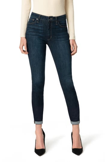 Joe's High Waist Crop Skinny Jeans (Clementine)