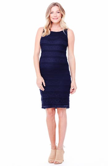 Ingrid & Isabel Sleeveless Stretch Lace Maternity Dress
