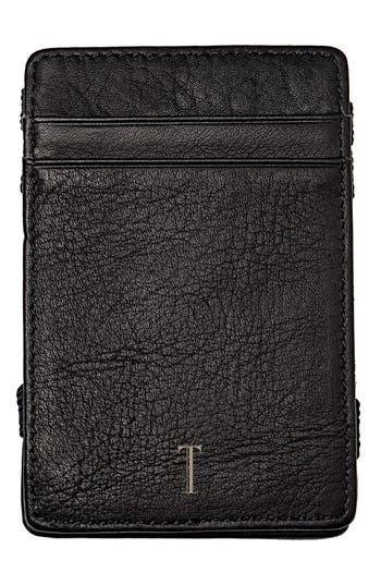 Women's Cathy's Concepts 'Magic' Monogram Leather Wallet - Grey