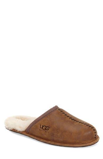 Ugg Scuff - Deco Genuine Shearling Slipper, 8- Brown