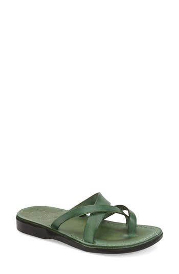 Women's Jerusalem Sandals 'Abigail' Strappy Slide Sandal, Size 5US / 36EU - Green