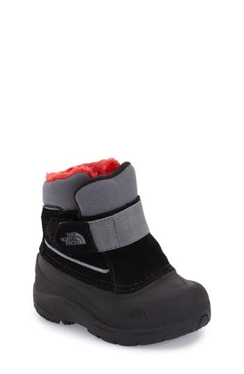 Toddler Boys The North Face Alpenglow Waterproof Boot Size 9 M  Black