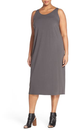 Plus Size Eileen Fisher Scoop Neck Jersey Dress