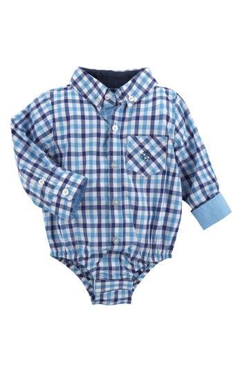 Infant Boys Andy  Evan Shirtzie Gingham Check Bodysuit