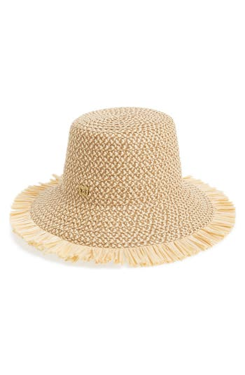 Women's Eric Javits 'Tiki' Bucket Hat - Beige