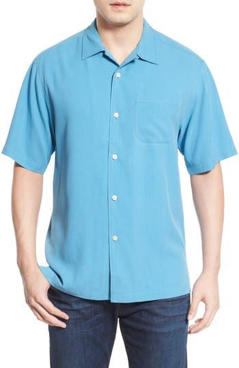 Men's Big & Tall Tommy Bahama 'Catalina Twill' Short Sleeve Silk Camp Shirt