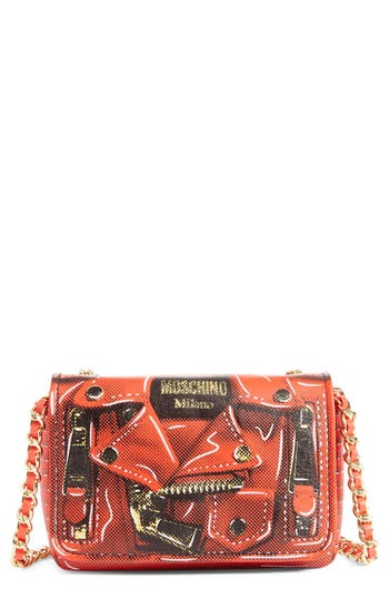 Moschino 'Mini Biker' Print Shoulder Bag - at NORDSTROM.com