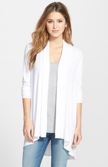 Women's Bobeau High/low Jersey Cardigan, Size X-Large - White