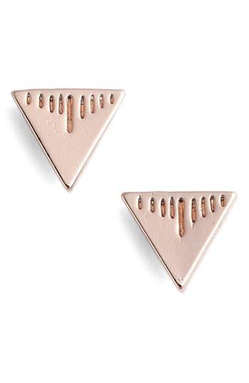 Women's Cam Triangle Stud Earrings