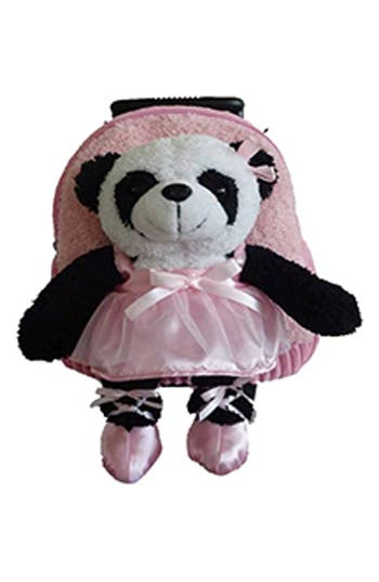 Infant Popatu Trolley  Ballet Panda Rolling Backpack  Pink