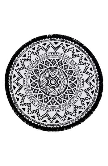 Linum Home Textiles 'Kilim' Turkish Pestemal Round Beach Towel
