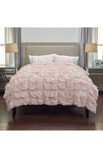Rizzy Home Knots Comforter & Sham Set, Size King - Pink