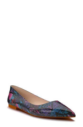 Shoes Of Prey Pointy Toe Flat, Purple